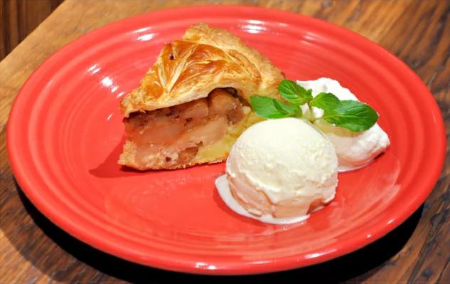 バニラアイスとアップルパイ