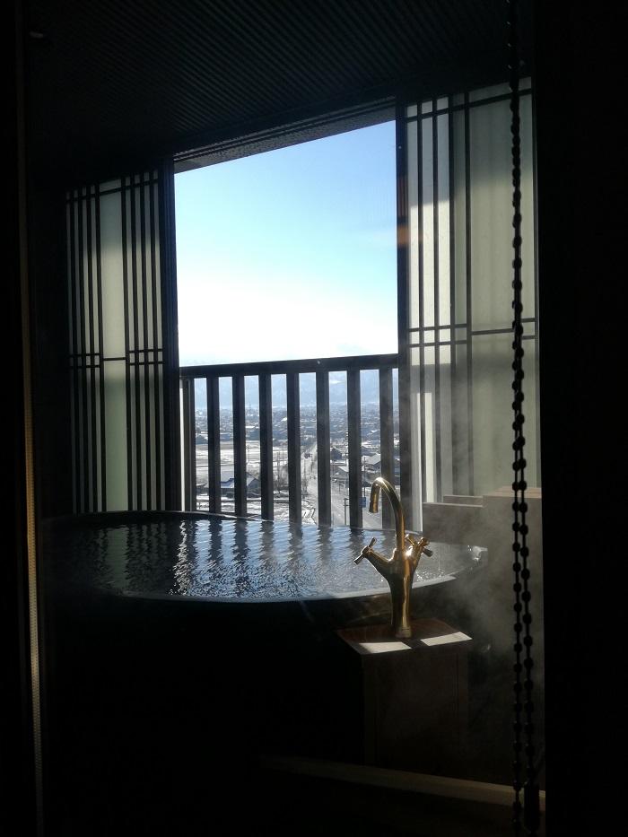 お部屋のお風呂からの景色
