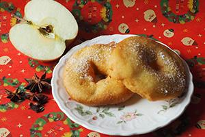 リンゴのドーナツ