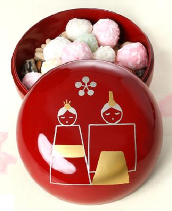 漆器ひなまつりお菓子
