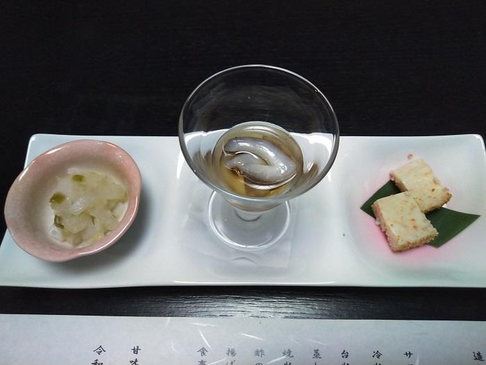 ナマコ酢イカわさびカニ松風