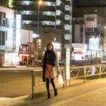 女性の一人歩き