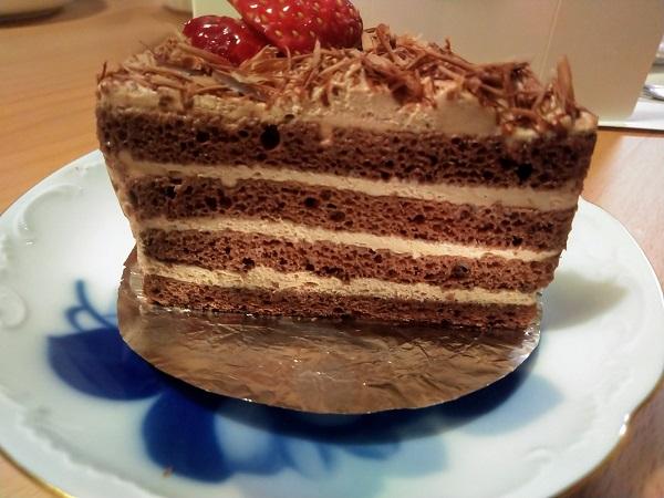 ショコラケーキ断面
