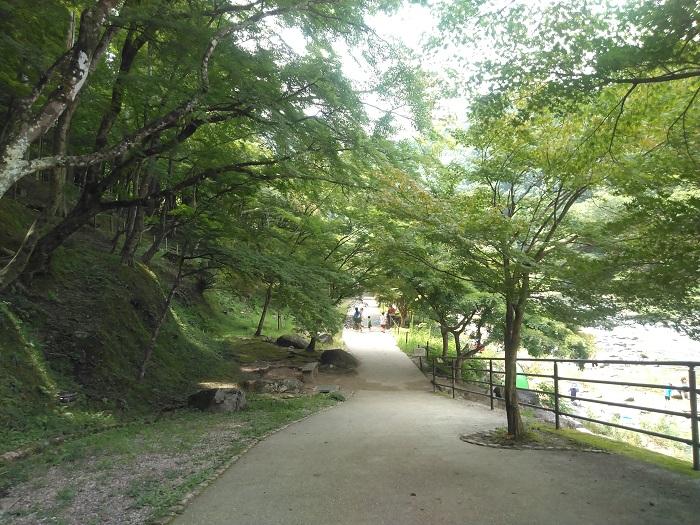 橋からすぐの小道